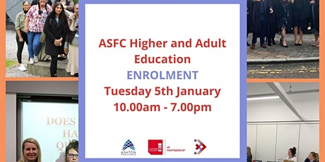 ASFC Higher and Adult Education Enrolment tickets