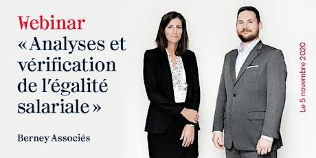 """Webinar """"Analyses et vérification de l'égalité salariale"""" billets"""