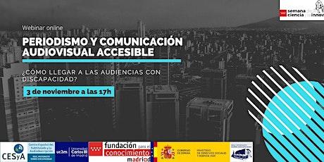 Periodismo accesible: ¿Cómo llegar a las audiencias con discapacidad? entradas
