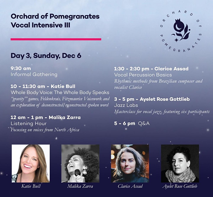 Vocal Intensive III: Orchard of Pomegranates image
