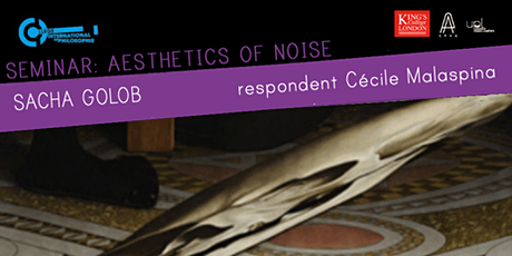 Aesthetics of Noise: Sacha Golob tickets