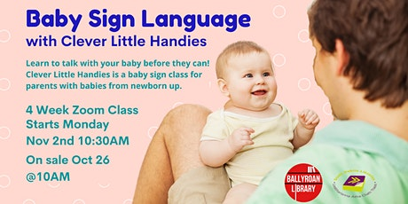 Baby Sign Language with Clever Little Handies via Zoom tickets