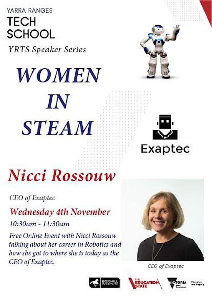 YRTS Speaker Series - Women in STEAM image