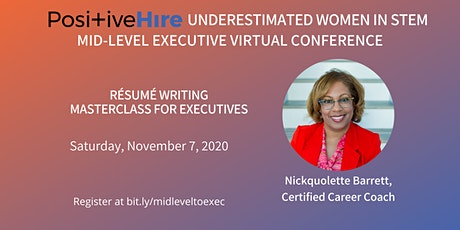 Women of Color in STEM: Résumé Writing Masterclass For Executives tickets