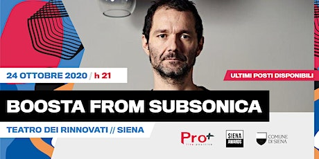 Davide Boosta Dileo from Subsonica _ live _ Teatro Dei Rinnovati tickets