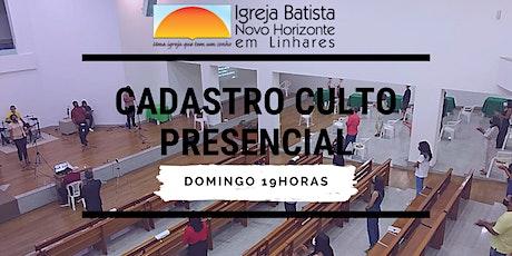 CULTO PRESENCIAL IBNHL 25/10/20 bilhetes