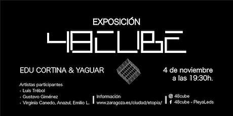 Actuaciones 48CUBE: L. Trébol, G. Giménez, V. Canedo & Anazul y E. Larruga entradas