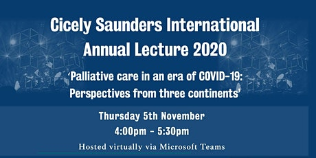 Cicely Saunders International Annual Lecture Online tickets