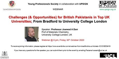 Webinar: From Bradford to UCL tickets