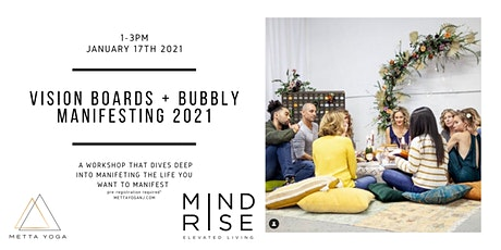 Vision Boards + Bubbly. Manifesting 2021 tickets