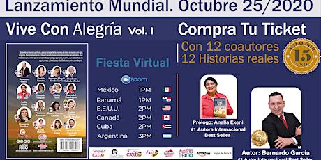 Lanzamiento mundial del Libro - Vive con Alegría, Volumen I tickets