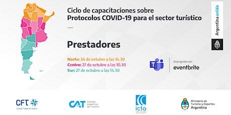 Protocolos COVID 19 - PRESTADORES - ZONA SUR entradas