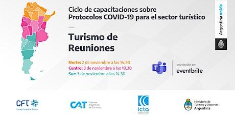 Protocolos COVID 19 - Turismo de Reuniones - ZONA SUR entradas