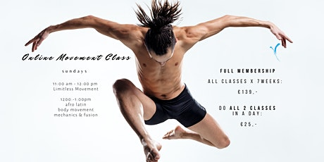 Online 7 Week Class with Limitless Movement tickets
