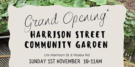 Harrison St Community Garden Official Opening tickets