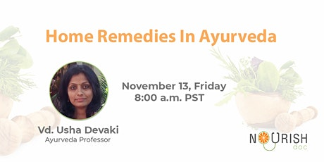 Home Remedies in Ayurveda tickets