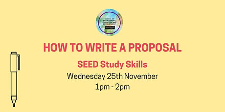 How to Write a Research Proposal tickets