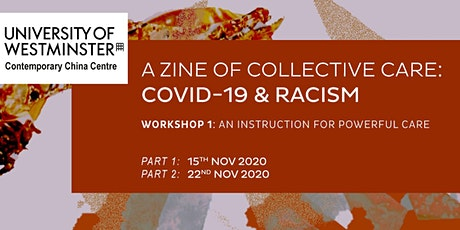 A Zine of Collective Care: Covid-19 & Racism (1) tickets