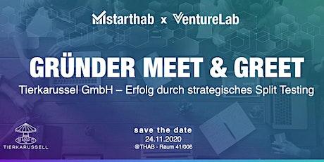 Gründer Meet&Greet: Tierkarussell GmbH -Erfolg durch strateg. Split-Testing Tickets
