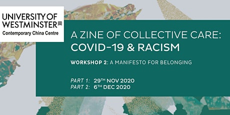 A Zine of Collective Care: Covid-19 and Racism (2) tickets