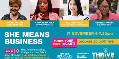 She Means Business powered by Bloom tickets