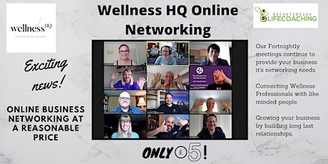 Wellness HQ Online Networking 24th  of November 2020 tickets