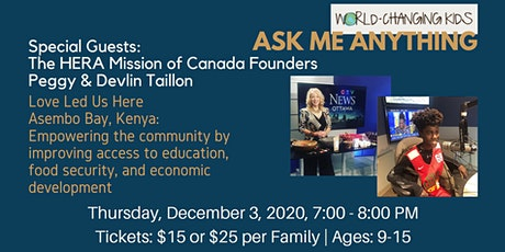 Ask Me Anything - with The HERA Mission of Canada Founders tickets