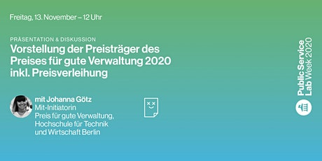 Public Service Lab Week 2020 – Freitag, 13. November Tickets