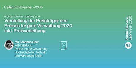 Public Service Lab Week 2020 – Freitag, 13. November Tickets