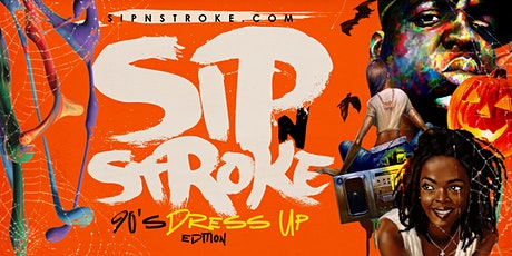 Sip 'N Stroke | 90's Dress Up Edition | Sip and Paint  6pm - 9pm tickets