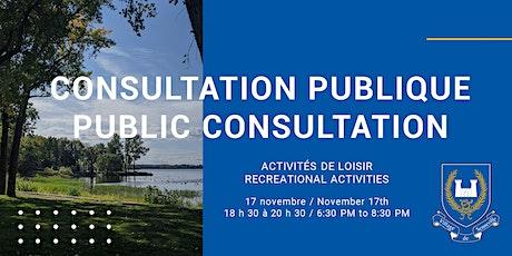 Consultation citoyenne - 53 chemin de Senneville et parc riverain billets