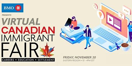 Canadian Immigrant Virtual Fair for Western Canada ( for BC, AB & MB) tickets
