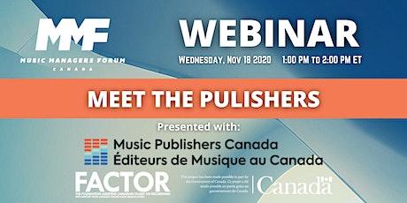 MMF CANADA WEBINAR: Meet the Publishers tickets