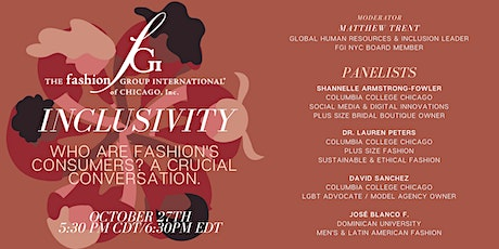 Inclusivity: Who are Fashion's Consumers? A Crucial Conversation tickets