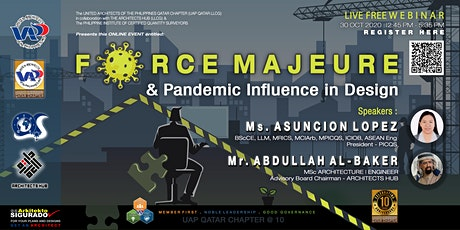 FORCE MAJEURE & PANDEMIC INFLUENCE IN DESIGN tickets