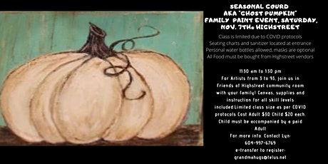 Ghost Pumpkin Family Paint Event tickets