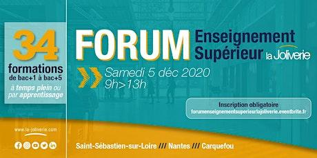 Forum Enseignement Supérieur la Joliverie billets