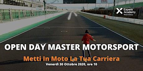 """Open Day Master Motorsport Experis Academy """"Metti In Moto La Tua Carriera"""" biglietti"""