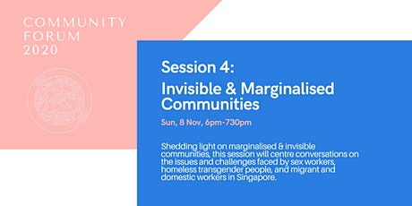 Session 4: Invisible and Marginalised Communities tickets
