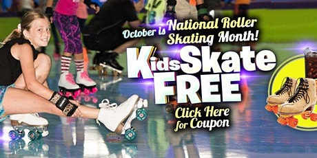 Kids Skate Free on Saturday 10/24/20 at 10am (with this ticket) tickets
