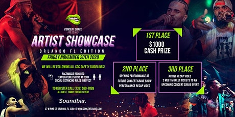Concert Crave Artist Showcase - ORLANDO, FL 11.20.20 tickets