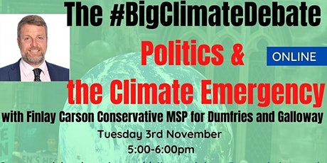Politics &  the Climate Emergency with Finn Carson MSP tickets
