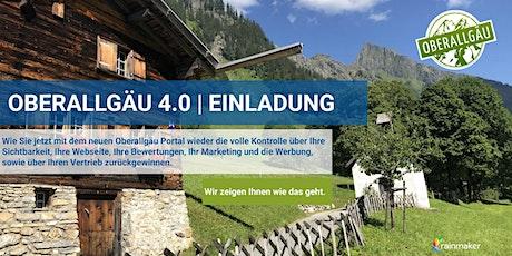 Das neue Oberallgäu Portal | Oberallgäu 4.0 für alle Gastgeber kostenlos Tickets