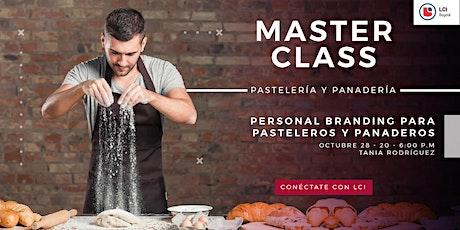 MasterClass - Personal Branding para Pasteleros y Panaderos entradas