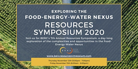 2020 Resources Symposium: Exploring the Food-Energy-Water Nexus tickets