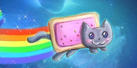Donation! 30min Draw a Poptart Kitty Art Lesson @11AM (Ages 4+) tickets