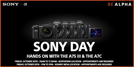 Sony Day Hands On With The A7S III & A7C tickets