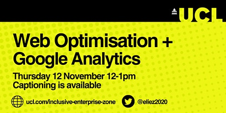 Web Optimisation and Google Analytics  - Lunch and Learn tickets