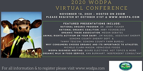 2020 WODPA Virtual Conference hosted on Zoom tickets