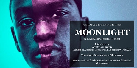 The RAI Goes to the Movies: Moonlight (2016, dir. Barry Jenkins) tickets